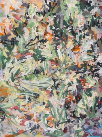 Schilderij met abstract landschap