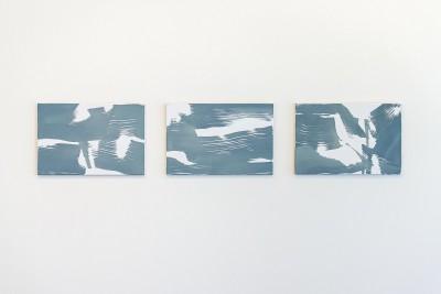Schilderijen in het CBK Emmen tijdens de expositie Arendsoog