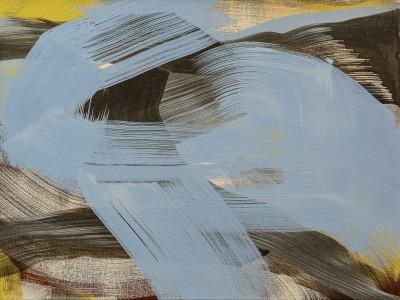 """Schilderij met abstract landschap uit de serie """"Over the hills and everywhere"""""""
